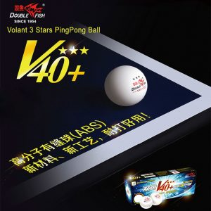 DOUBLE FISH V40+ VOLANT 3 STAR TABLE TENNIS BALLS