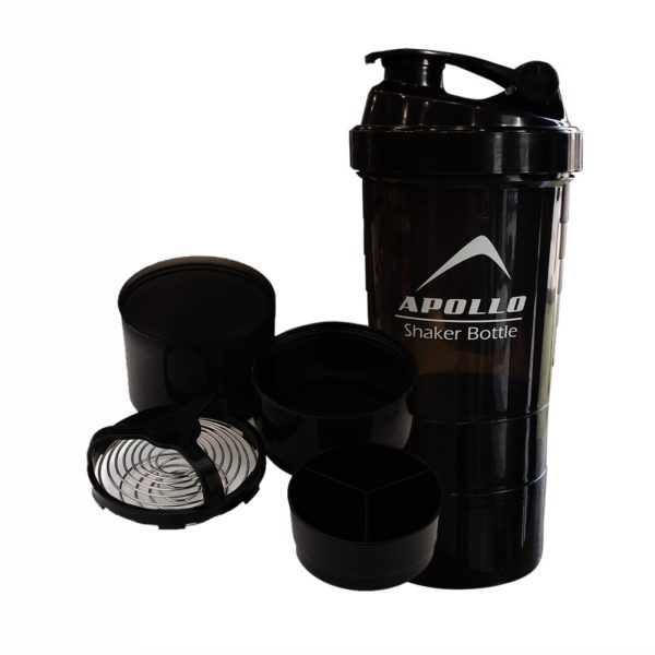 APOLLO PROTEIN SHAKER BOTTLE BT701 – BLACK
