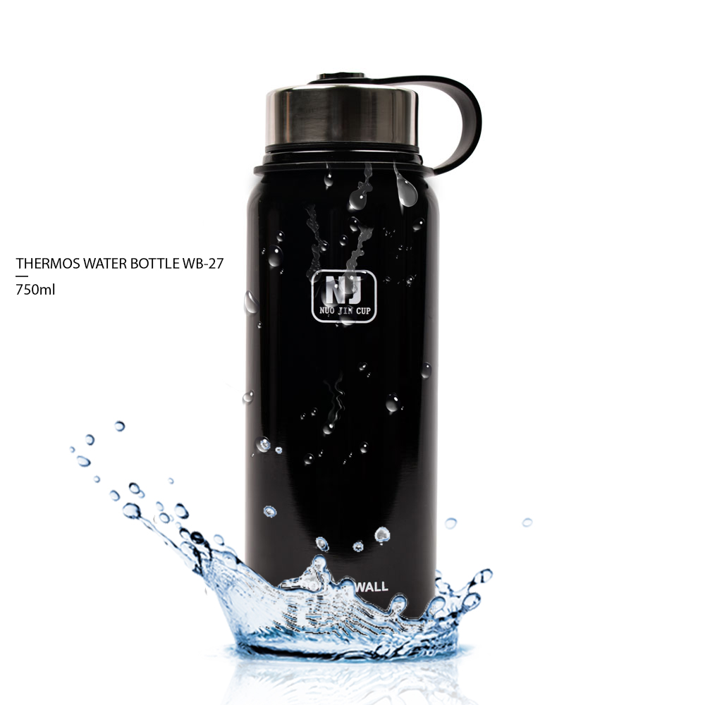 THERMOS WATER BOTTLE WB-27 – BLACK