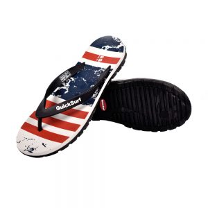 FLIPFLOP SLIPPERS FOR MEN QUICK SURF QUI-2391 MEN SLIPPERS - GRAY/RED
