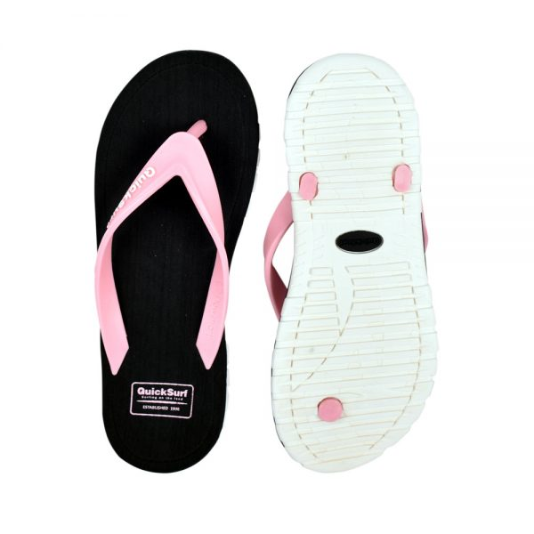 FLIPFLOP SLIPPERS FOR WOMEN QUICK SURF QUI-2806 WOMEN SLIPPERS – BLACKPINK (1)