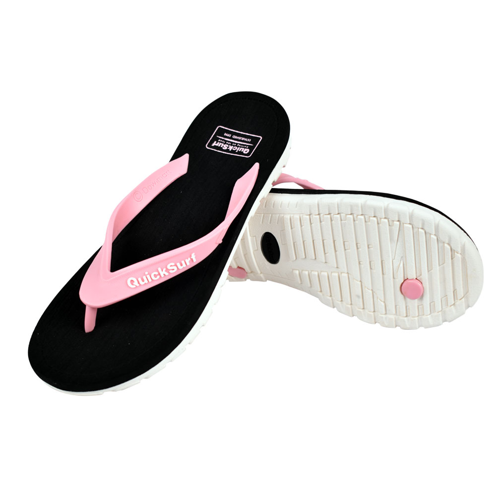 FLIPFLOP SLIPPERS FOR WOMEN QUICK SURF QUI-2806 WOMEN SLIPPERS - BLACK/PINK