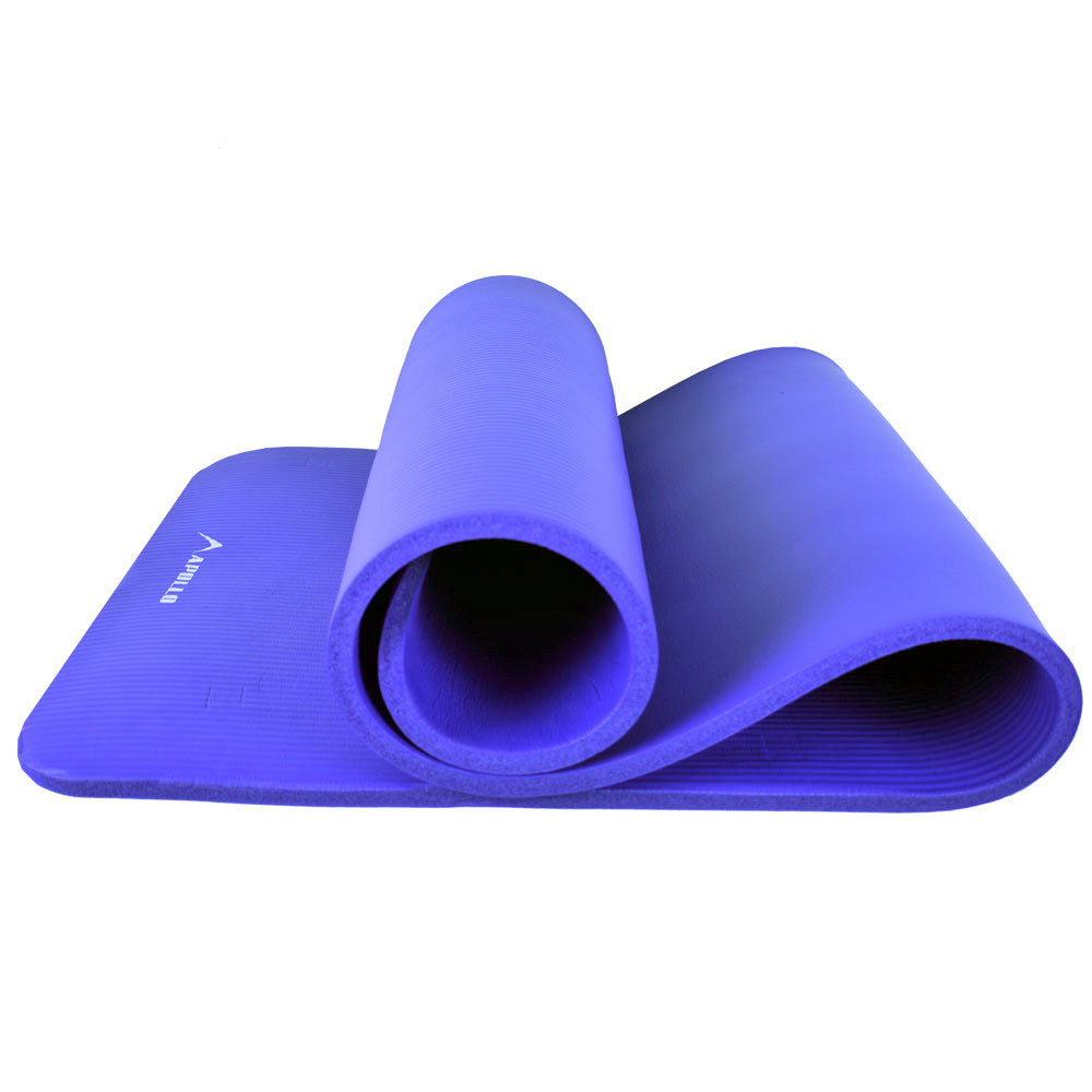 YOGA MAT APOLLO FA0720 MADE OF NBR MATERIAL - 15MM - BLUE