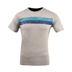 MEN'S JERSEY TEE SHIRT SHORT SLEEVE SPORTS COTTON TEE APOLLO 91M152 - HEATHER GRAY