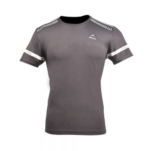 MEN'S MINI MESH TEE SHIRT BREATHABLE SHORT SLEEVE SPORTS TEE APOLLO 91M255 - DARK GRAY