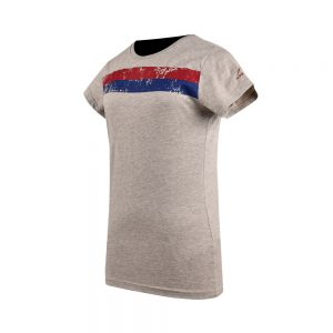WOMEN'S JERSEY TEE SHIRT SHORT SLEEVE SPORTS COTTON TEE APOLLO 91W151 - HEATHER GRAY
