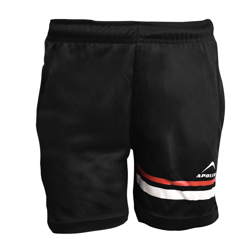 BOY'S RUNNING AND TRAINING INTERLOCK BERMUDA APOLLO 91B230 - BLACK