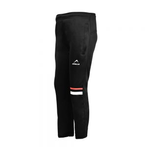 BOY'S RUNNING AND TRAINING PANT INTERLOCK TROUSER APOLLO 91B210 - BLACK