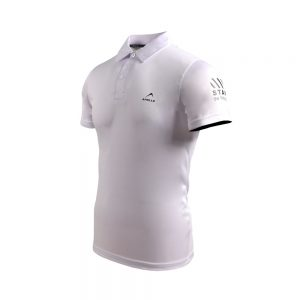 MEN'S TRAINING POLO SHIRT SHORT SLEEVE SPORTS INTERLOCK TEE APOLLO 91M450 - WHITE