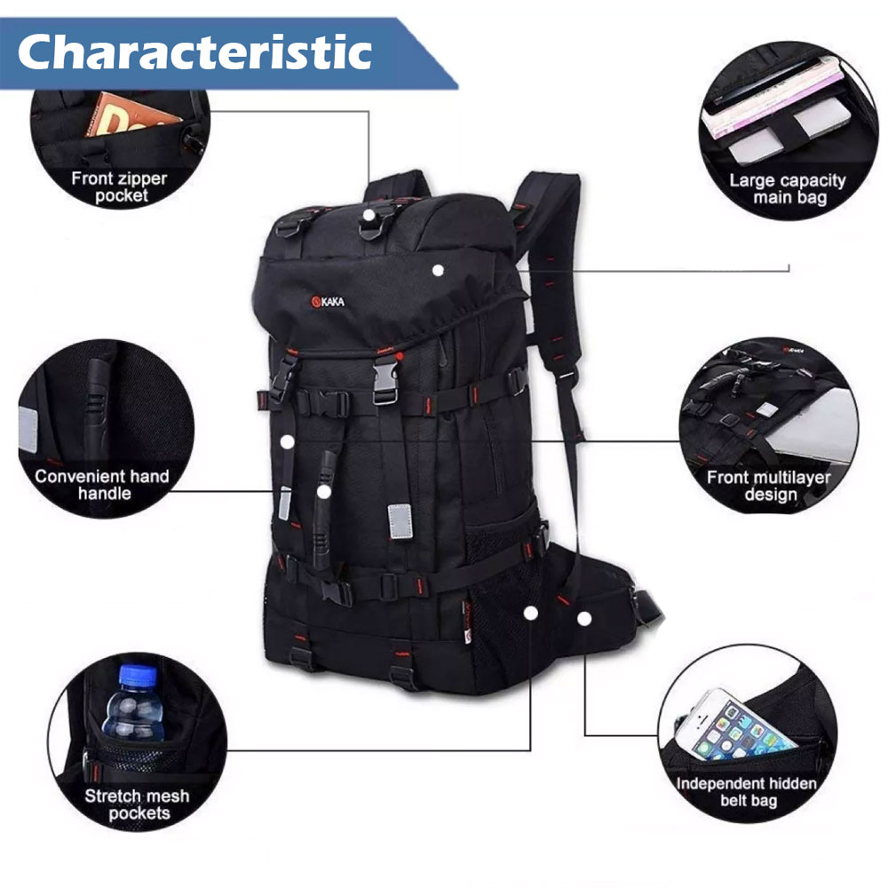 MULTIFUNCTIONAL BACKPACK TRAVEL BAG KAKA 2010 - BLACK