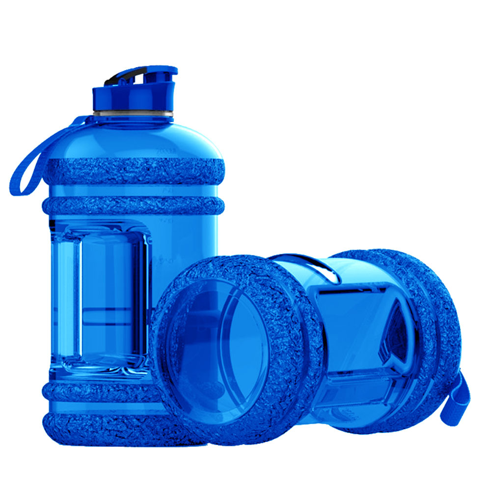 SPORTS WATER BOTTLE LARGE CAPACITY GYM BOTTLE APOLLO WB-25 - 2.2 LITTERS - BLUE