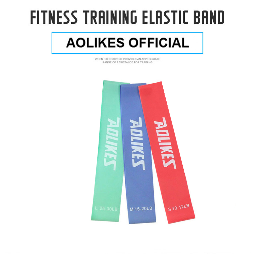 3PCS AOLIKES 3601 LOOP RESISTANCE BAND 12LBS 20LBS 30LBS