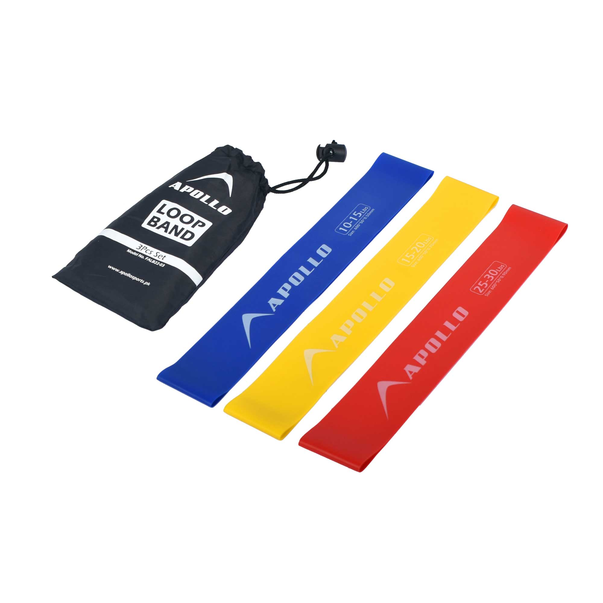 3PCS LOOP RESISTANCE BANDS GYM TRAINING LOOPS APOLLO FALB22-03