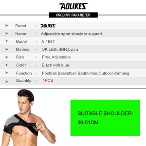 AOLIKES 1697 SHOULDER SUPPORT ADJUSTABLE WITH STRAP - RIGHT