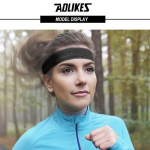 AOLIKES 2103 FABRIC HEADBAND - BLACK