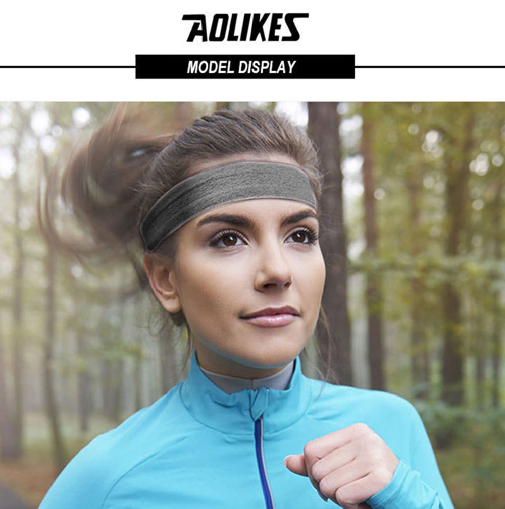 AOLIKES 2103 FABRIC HEADBAND - GRAY