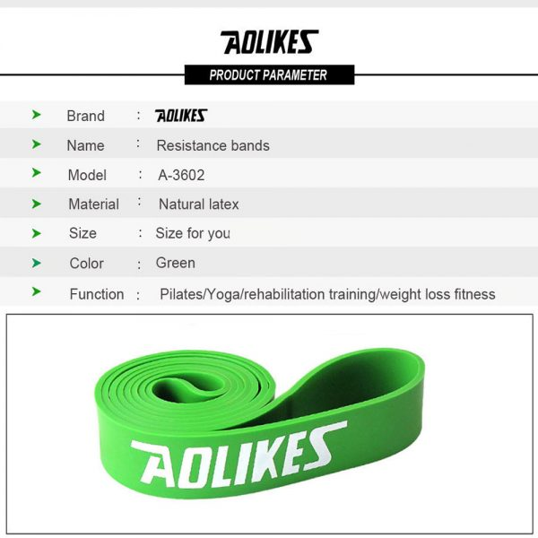 AOLIKES 3602 GYM TRAINING RESISTANCE BAND 50-125LBS (2)