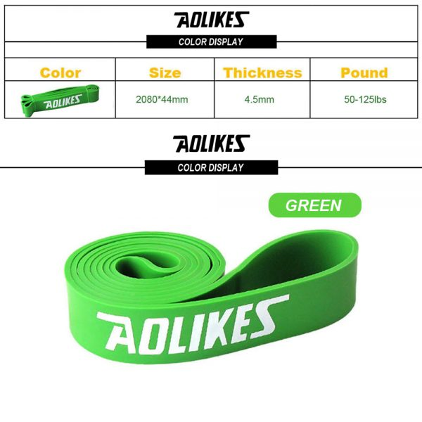 AOLIKES 3602 GYM TRAINING RESISTANCE BAND 50-125LBS (3)
