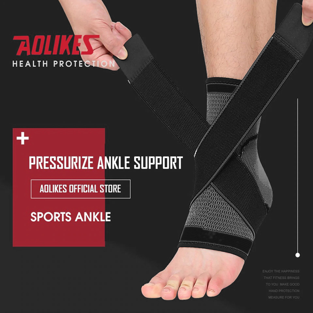 AOLIKES 7529 ANKLE SUPPORT WITH ELASTIC STRAP - LARGE