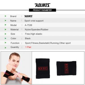 AOLIKES 7536 WRIST SUPPORT - BLACK