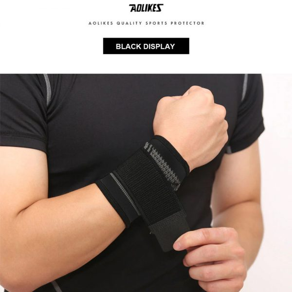 AOLIKES 7537 WRIST SUPPORT WITH ELASTIC STRAP – BLACK (3)