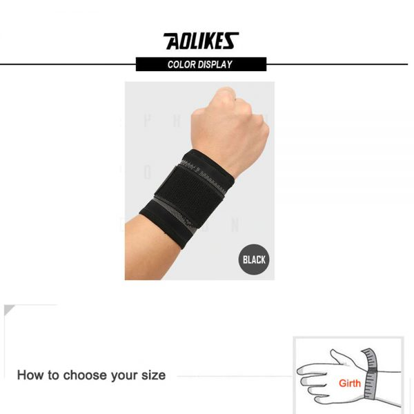 AOLIKES 7537 WRIST SUPPORT WITH ELASTIC STRAP – BLACK (5)