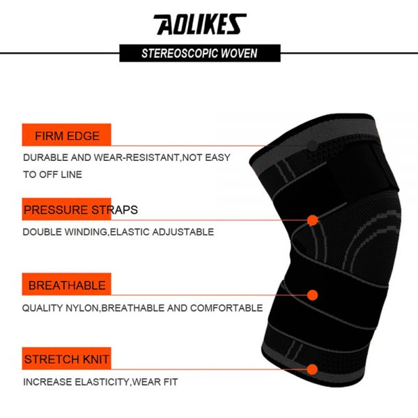 AOLIKES 7720 KNEE SUPPORT WITH ELASTIC STRAP – LARGE (2)
