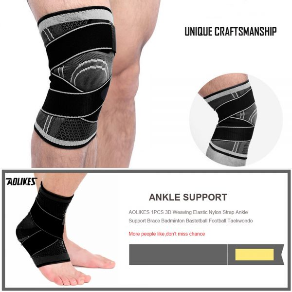 AOLIKES 7720 KNEE SUPPORT WITH ELASTIC STRAP – LARGE (4)
