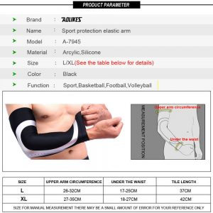 AOLIKES 7945 ELBOW SLEEVE - BLACKSILVER - EXTRA LARGE