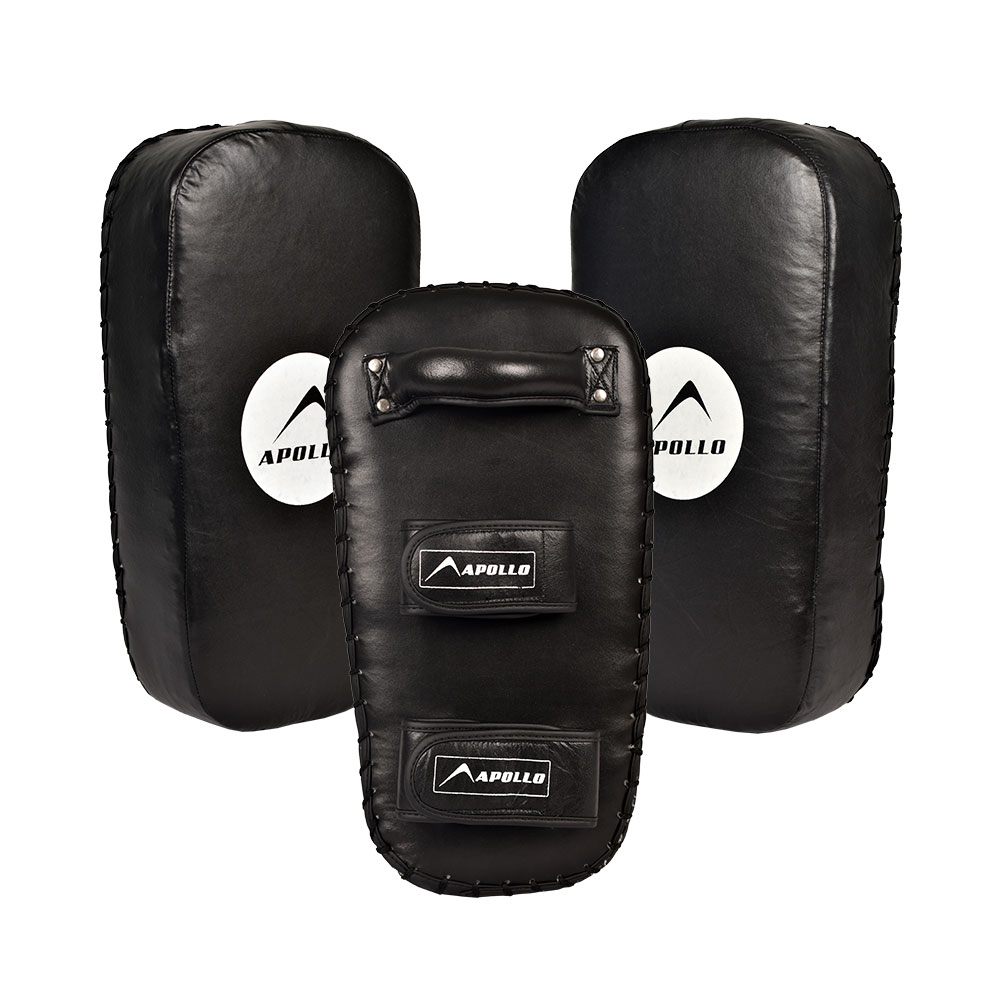 APOLLO 9BKR60 REXINE BOXING KICK PAD - BLACK