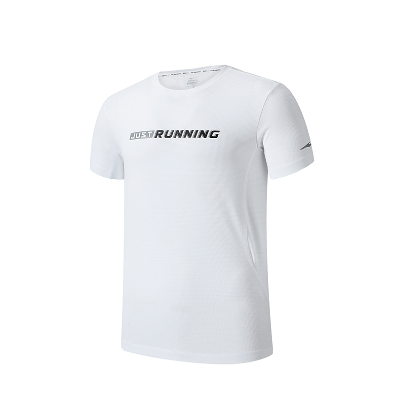 ERKE MENS CREW NECK T SHIRT RUNNING AND TRAINING TEE 11219219095 - WHITE