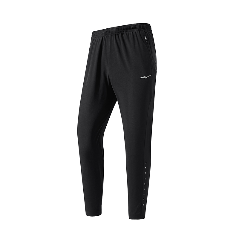 ERKE MENS SPORTS CROPPED PANT RUNNING TRAINING CASUAL TROUSER 11219353225 - BLACK