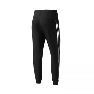 ERKE MENS SPORTS CROPPED PANT RUNNING TRAINING CASUAL TROUSER 11219357265 - BLACK