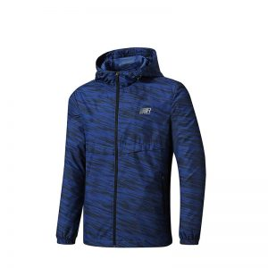 ERKE MEN'S SPORTS JACKET RUNNING AND TRAINING FULL ZIP UPPER WITH HOOD 11219315217 - BLUE