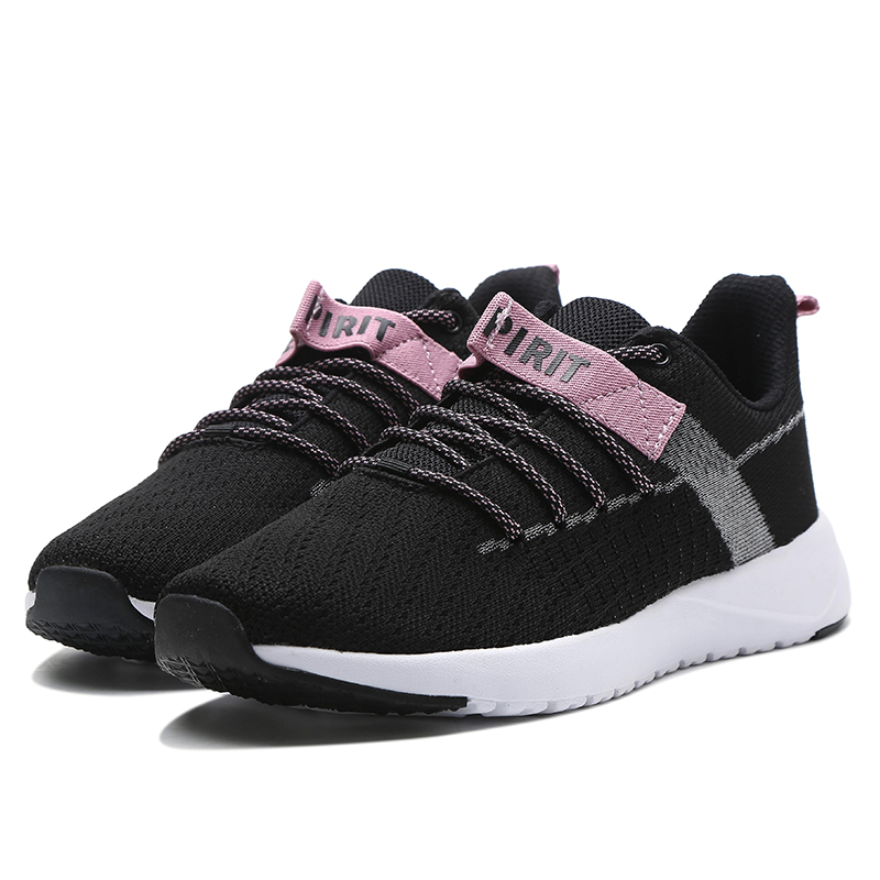 ERKE WOMENS RUNNING TRAINING CASUAL SPORTS SHOES 52119302049 - BLACKWHITE