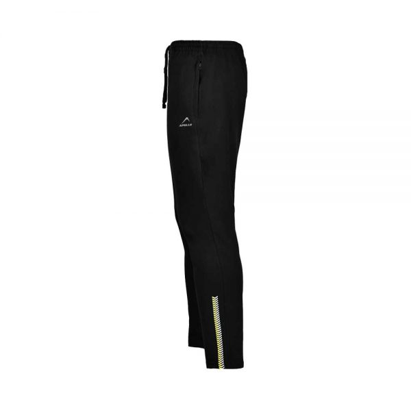 MENS LYCRA JERSEY PANT SPORTS CASUAL PANTS APOLLO 91M110 – JET BLACK (3)
