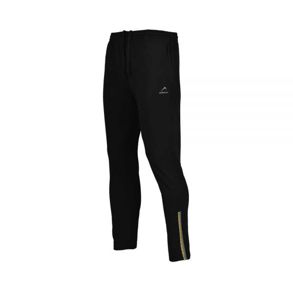 MENS LYCRA JERSEY PANT SPORTS CASUAL PANTS APOLLO 91M110 – JET BLACK (5)