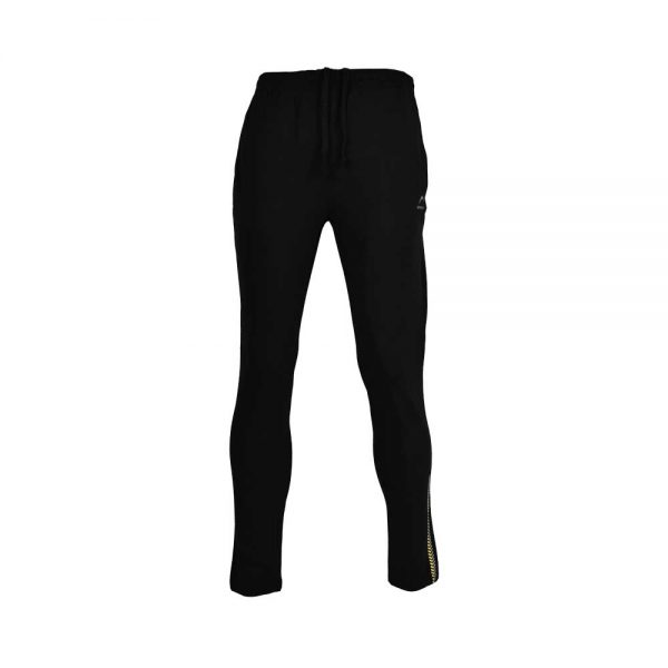 MENS LYCRA JERSEY PANT SPORTS CASUAL PANTS APOLLO 91M110 – JET BLACK (6)