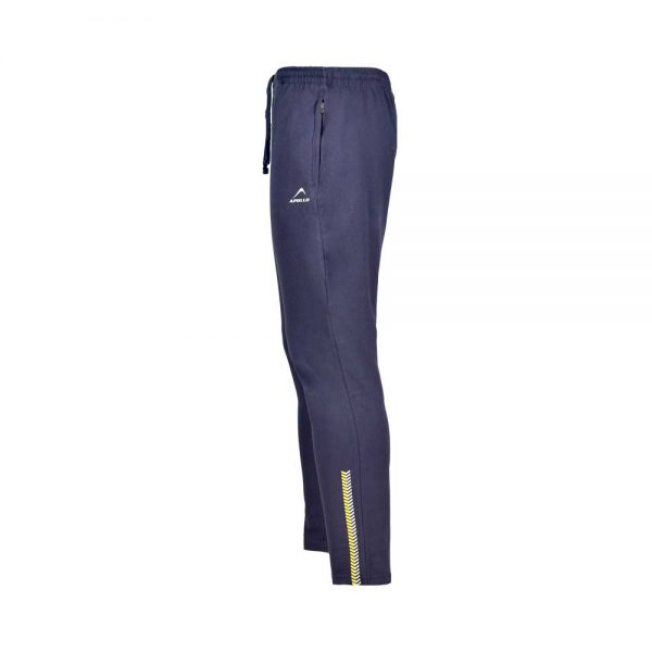 MENS LYCRA JERSEY PANT SPORTS CASUAL PANTS APOLLO 91M110 – NAVY BLUE (4)