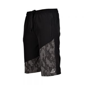 MENS MICRO PEACH BERMUDA SHORTS SPORTS CASUAL RUNNING TRAINING BOTTOM APOLLO 92M130 - JET BLACK