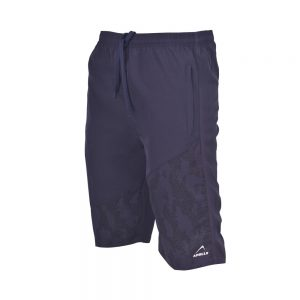 MENS MICRO PEACH BERMUDA SHORTS SPORTS CASUAL RUNNING TRAINING BOTTOM APOLLO 92M130 - NAVY BLUE