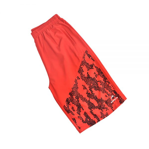 MENS MICRO PEACH BERMUDA SHORTS SPORTS CASUAL RUNNING TRAINING BOTTOM APOLLO 92M130 – RED (1)