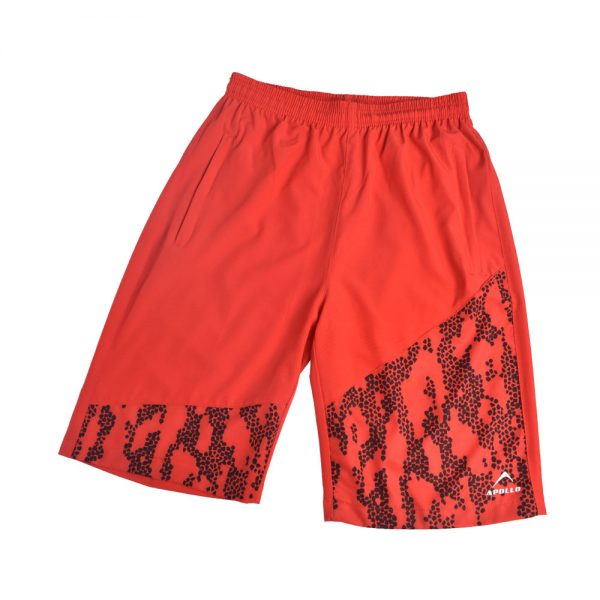 MENS MICRO PEACH BERMUDA SHORTS SPORTS CASUAL RUNNING TRAINING BOTTOM APOLLO 92M130 – RED (2)