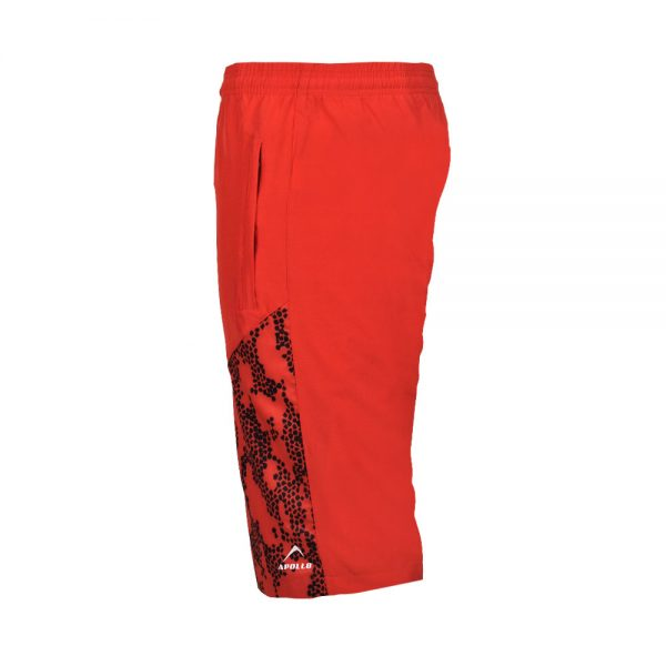 MENS MICRO PEACH BERMUDA SHORTS SPORTS CASUAL RUNNING TRAINING BOTTOM APOLLO 92M130 – RED (3)