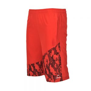 MENS MICRO PEACH BERMUDA SHORTS SPORTS CASUAL RUNNING TRAINING BOTTOM APOLLO 92M130 - RED