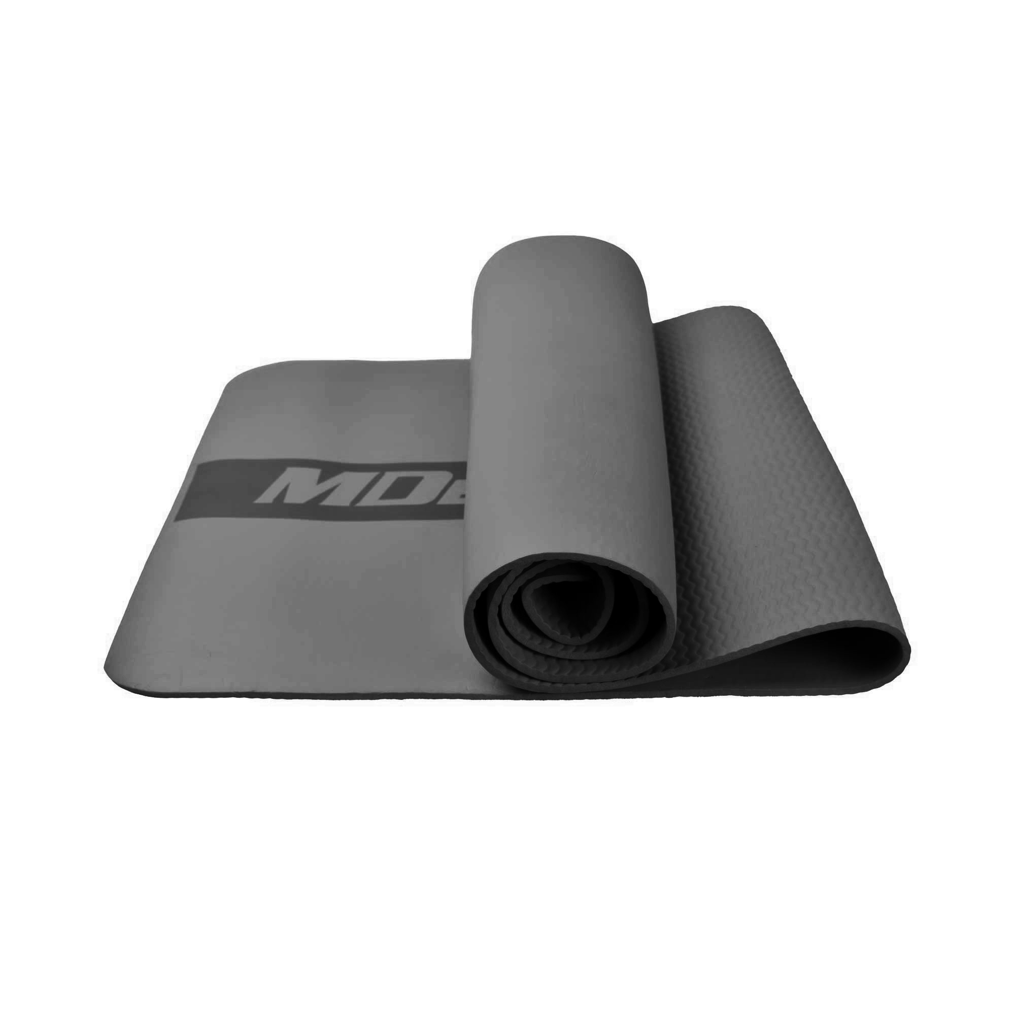 MDBUDDY MD9041 HIGH ELASTIC RUBBER PILATES YOGA MAT 6MM THICKNESS – GRAY