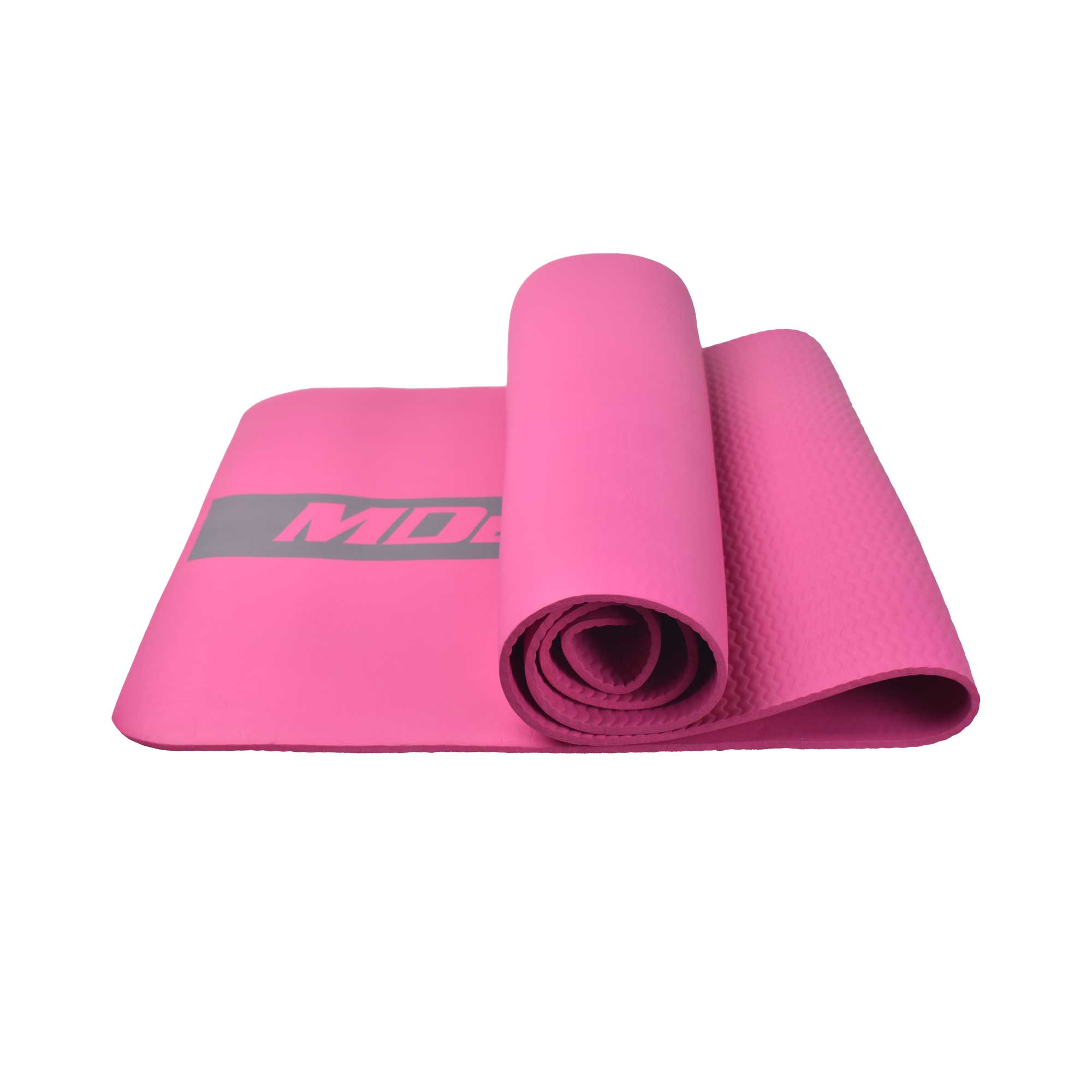 MDBUDDY MD9041 HIGH ELASTIC RUBBER PILATES YOGA MAT 6MM THICKNESS – RED ROSE