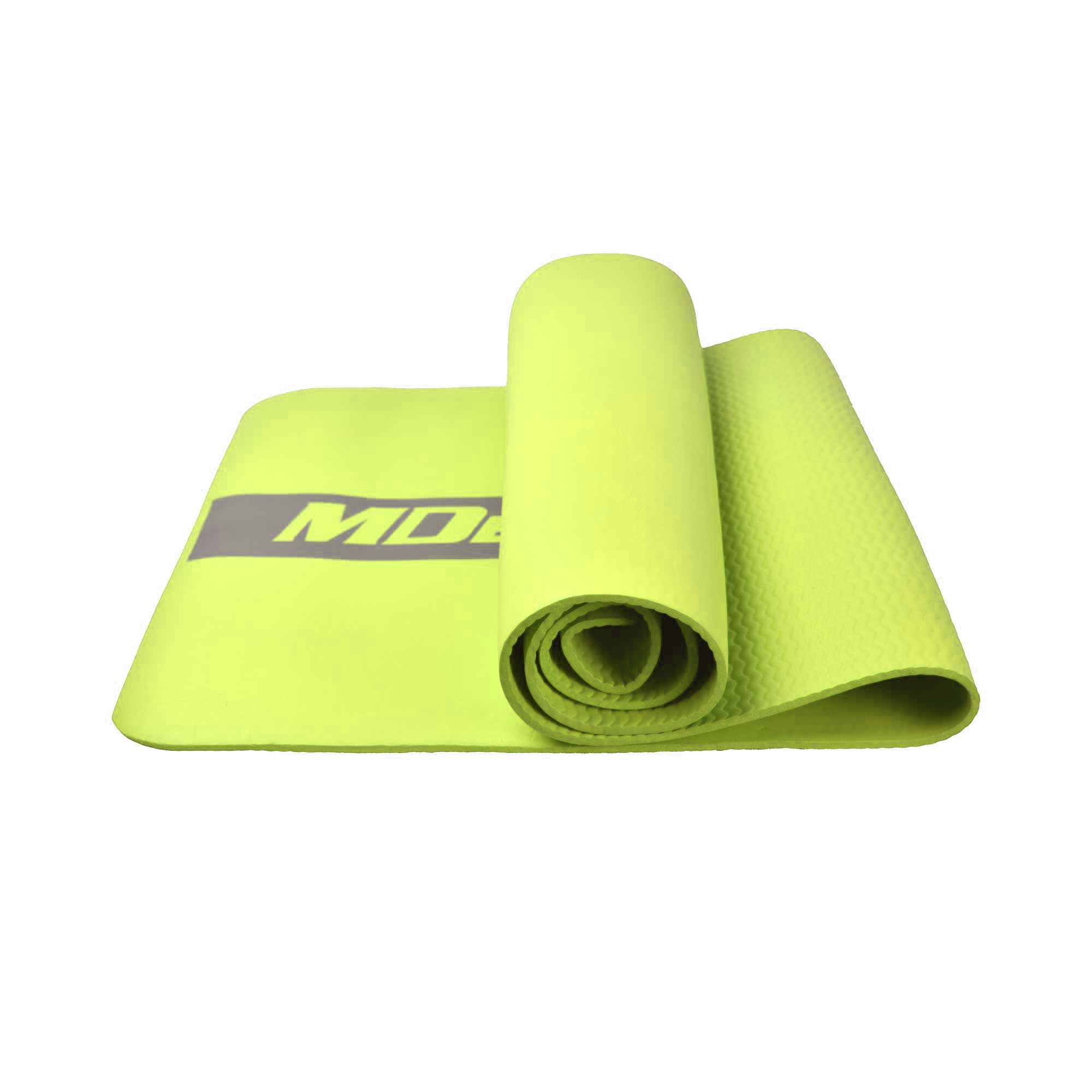 MDBUDDY MD9041 HIGH ELASTIC RUBBER PILATES YOGA MAT 6MM THICKNESS - GREEN