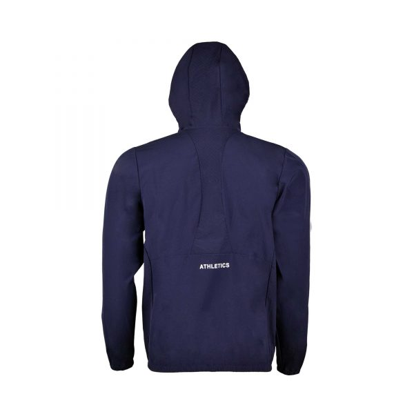 MENS SPORTS CASUAL RUNNING TRAINING LIGHT WEIGHT EARLY WINTERS MICRO TWILL UPPER HOODIE APOLLO 93M350H – NAVY BLUE (3)