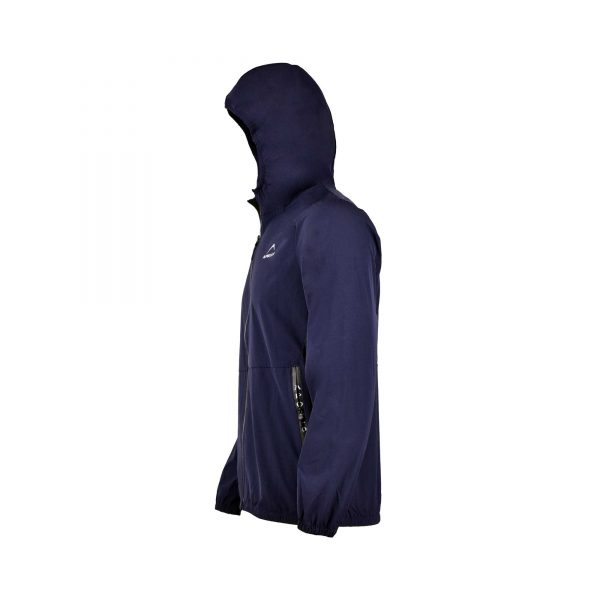 MENS SPORTS CASUAL RUNNING TRAINING LIGHT WEIGHT EARLY WINTERS MICRO TWILL UPPER HOODIE APOLLO 93M350H – NAVY BLUE (4)